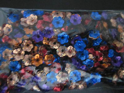 Flower - 10mm Bead caps -  Sequin Beads - Mixed Color - 35 grams bag - no. 2