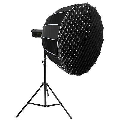 PHOTAREX Deep Parabolic Softbox 120cm with Fabric Grid and Elinchrom Mount