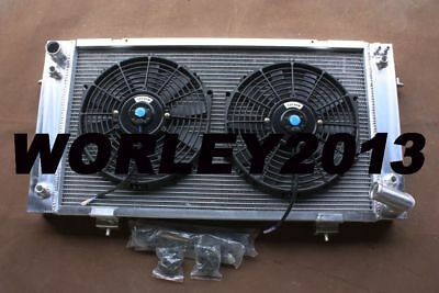 Aluminum radiator & fans for Land Rover Discovery & Range Rover 3.9L V8 Series 1