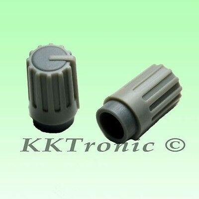 5 x Knob Grey with Grey Mark for Potentiome​ter Pot 6mm Shaft Diameter