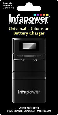 Infapower Universal Lithium-Ion Battery Charger For Digital Cameras Camcorders