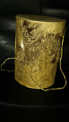 Vintage Handmade African Tribal Animal Skin Drum