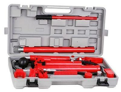10T PORTA POWER KIT HYDRAULIC PANEL BEATING BODY REPAIR TOOL with Trolley Case