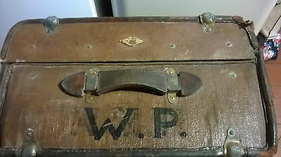 Vintage  Large Steamer Trunk, Case Original Condition pelican brand,wedding prop