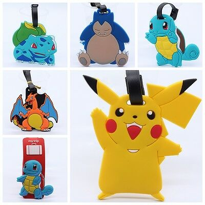 New Pokemon Silicone Rubber Travel Luggage Tag  Suitcase  Labels