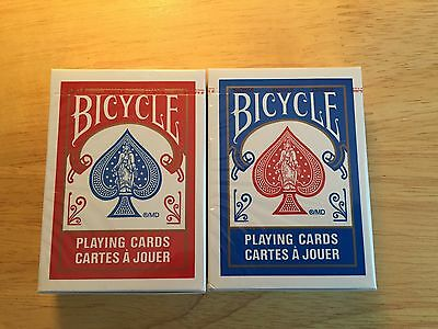 2 Decks Bicycle Air Cushion Finish Poker Playing Cards Red & Blue NEW SEALED