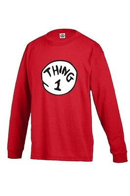Thing 1 Thing 2 ....Up To Thing 10 Adult Long Sleeve Best Quality FREE SHIPPING!