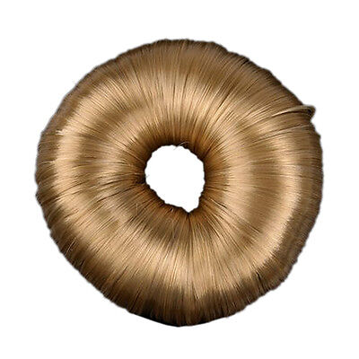 Blonde Hairdressing Hair Donut Ring Bun Shaper Styler AD