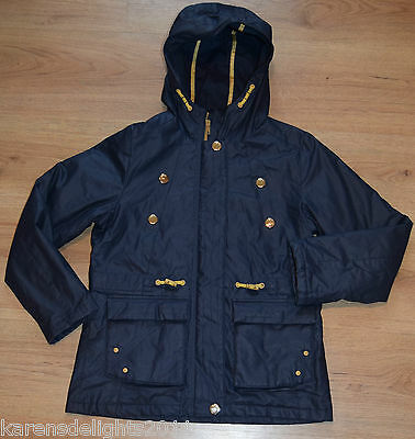girls school coat jacket wax style waterproof 5-6 years from Next fast postage