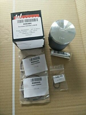 NEW WOSSNER PISTON KIT 1986-2006 KAWASAKI KDX200 65.96 mm 8093DC