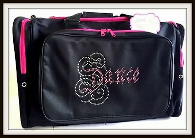 New Dance Bag Sassi Designs Brilliant Calligraphy Rhinestone Design CAL-02Black