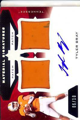 new arrival 00c3d a6a4d TYLER BRAY ROOKIE rc draft auto dual jersey patch tennessee vols college  #/10 13