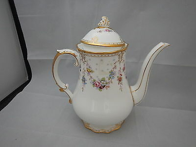 Royal Crown Derby Royal Antoinette Large coffee pot *Never used* 2nd quality.