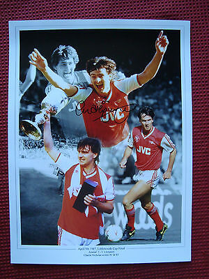 ARSENAL LEGEND CHARLIE NICHOLAS HAND SIGNED PHOTO 30.5cm x 40cm -EXACT PROOF COA