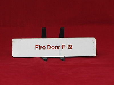 S.S. NORWAY Fire Door Sign Removed from Ship - NAUTIQUES sHiPs WORLDWIDE