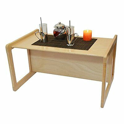 3 in 1 Adults Coffee Table One Piece or Childrens Table Bench Large Light Beech