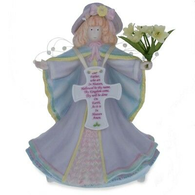 """6.5"""" Lord's Prayer Porcelain Figurine with Music Box"""