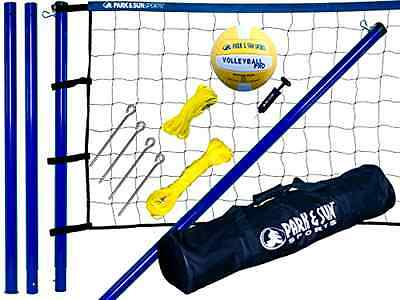 Volleyball Sport Set Net Systems Portable Sports Outdoor Team Complete Beach Par