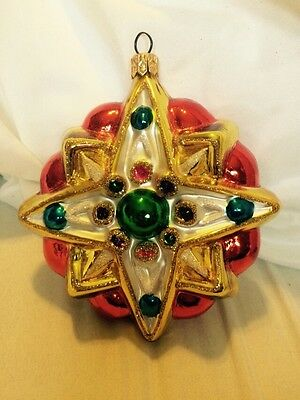 Kurt S. Adler, INC Polonaise Collection Hand Crafted Star Ornament Hand-Blown