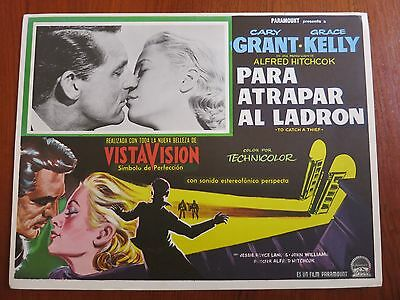 TO CATCH A THIEF (1955) Rare Original Mexican Lobby Card Grace Kelly Hitchcock
