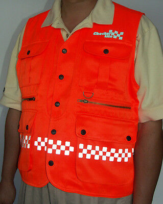 Safety Engineers Vest - with Reflective Checkers and 10 pockets !