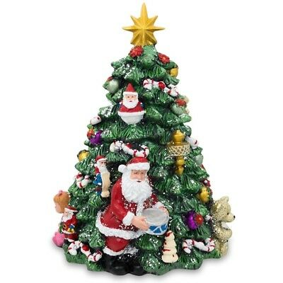 "6.25"" Santa with Gifts Rotating Tabletop Christmas Tree with Music Box"