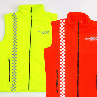 Safety Fleece Vest - with Reflective Checkers, Warm and Safe !