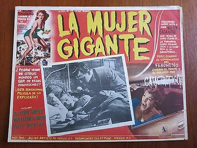 ATTACK OF THE 50 FOOT WOMAN Rare Original Mexican Lobby Card Movie Poster