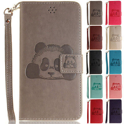 Panda Stand Wallet Leather Flip Case Cover For iPhone 5S 6 6S Plus 7 8 Plus X XS