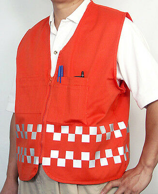 Safety Surveyor's Vest - with Reflective Checkers, Cool and Safe !