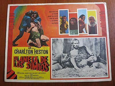 PLANET OF THE APES Original Mexican Lobby Card Movie Poster 1968 Charlton Heston