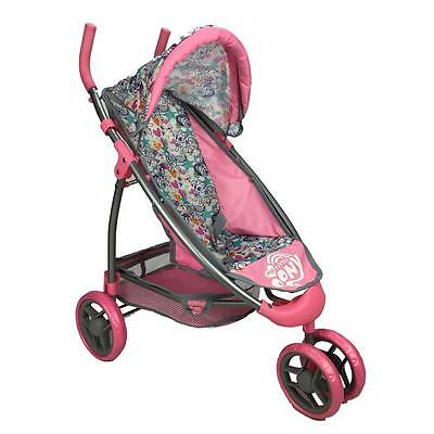 Girls Pretend Play Three Wheel Doll Stroller - Pony