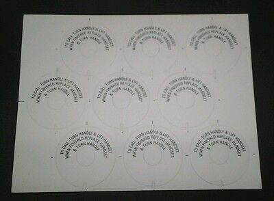 PMG Telephone Magneto Sheet of 9 Labels