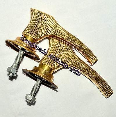 Pairs Of Brass Art Deco Style Door Knobs Handles • CAD $42.99