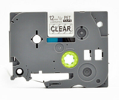 TZ131 TZe 131 Label Tape Black On Clear For Brother P-Touch PT-1300 12mm