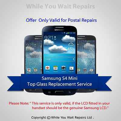 Samsung Galaxy S4 Mini Screen Replacement Cracked Front Glass Repair Service