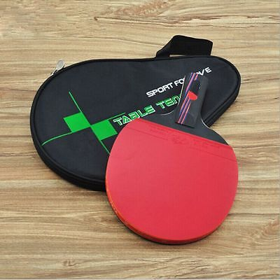 Professional Wood Handle Bat Carbon Fiber Table Tennis Racket Ping Pong Paddle