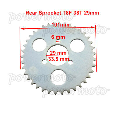 38T T8F Rear Chain Sprocket For 43 49 cc Mini Moto ATV Pocket Bike Goped Scooter