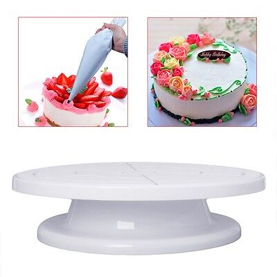 "11"" Rotating Revolving Cake Plate Decorating Turntable Kitchen Display Stand HOT"