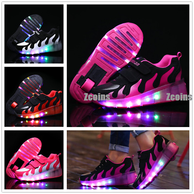 Kids Youth LED Light  Roller Skates with Wheel Shoes Unisex Adult Girls Sneakers
