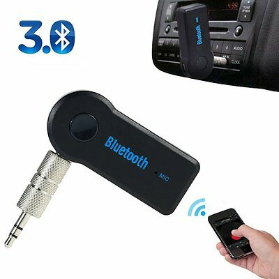 Wireless Bluetooth 3.5mm AUX Audio Stereo Music Home Car Receiver Adapter Mic IJ