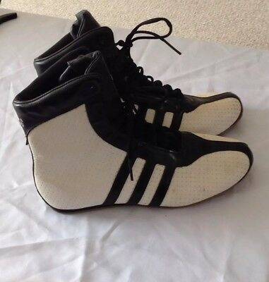 Limited Edition Adidas Shosan High Boxing/martial Arts/wrestling Boots Size 5