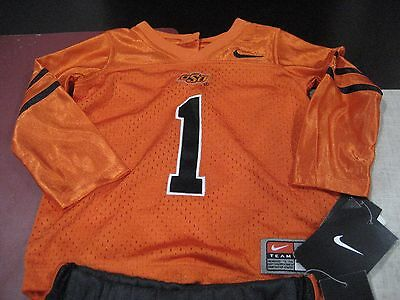 BOYS/GIRLS NIKE OSU OKLAHOMA STATE JERSEY AND TRACK Pant SET SIZE 24 MONTHS NWT