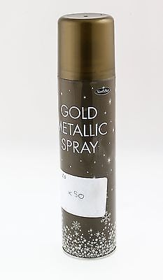 Christmas Gold Metallic Spray Tree House Table Decoration Glitter Sparkle