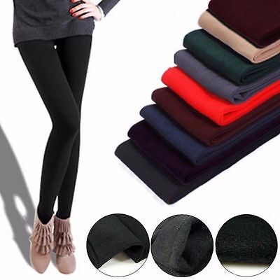 US Thick Warm Cotton Winter Thermal Leggings Full Length Colors - High Quality