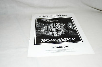 Scarce Cinema Campaign Book: HIGHLANDER - There Can Be Only One