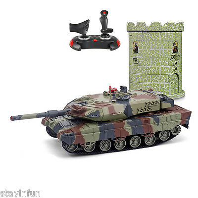 HUANQI 550B 1:24 Scale Simulation Infrared RC Battle Tank Boy Girl Kid Toy Gift