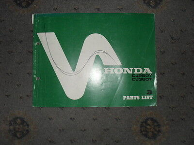 Honda CJ250T 350T CJ 250t Parts manual