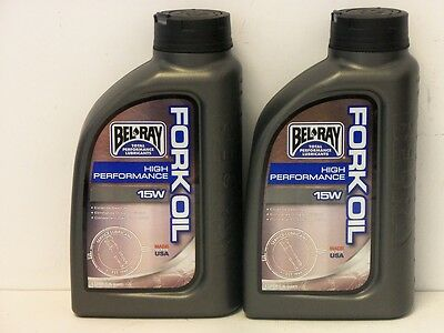 11,50€/l Bel-Ray High Performance Fork Oil 15W 2 x 1 Ltr Gabelöl