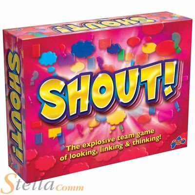 Shout Game Childrens Family Team Looking Thinking Linking Board Game